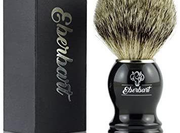 Eberbart Blaireau de rasage en poils véritables – Pinceau en…