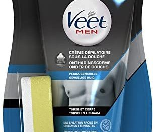 Veet Men – Crème Dépilatoire Homme sous La Douche – Peaux…